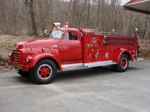 Bowers Fire Co after antique firetruck restoration